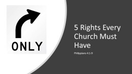 5 Rights every church MUST have